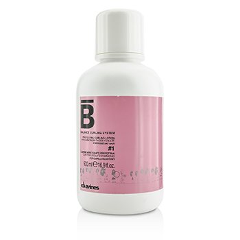 Davines โลชั่นปกป้องผม Balance Curling System Protecting Curling Lotion # 1 (For Resistant Hair)  500ml/16.9oz