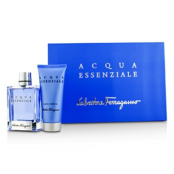 Salvatore Ferragamo Acqua Essenziale Coffret: Eau De Toilette Spray 100ml/3.4oz + Champú & Gel Ducha 100ml/3.4oz  2pcs