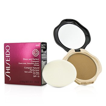Shiseido Sheer & Perfect Compact Foundation SPF15 - #B40 Natural Fair Beige  10g/0.35oz