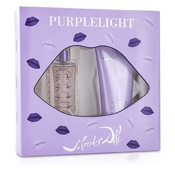 Salvador Dali Purplelight Coffret: Eau De Toilette Spray 30ml/1oz + Loci�n Corporal 100ml/3.4oz  2pcs