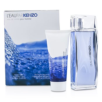 Kenzo L'Eau Par Kenzo Coffret: Eau De Toilette Spray 100ml/3.4oz + Champ� Cuerpo & Cabello 75ml/2.5oz  2pcs