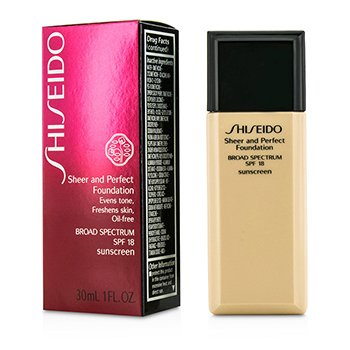 Shiseido Sheer & Perfect Foundation SPF 18 - # B100 Very Deep Beige  30ml/1oz