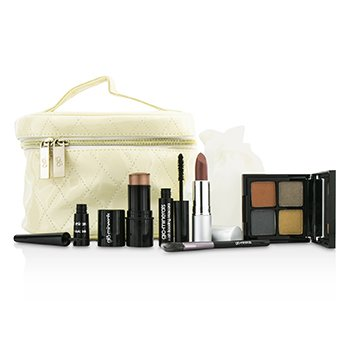 GloMinerals ชุด Keepsake Collection Train Case (Color Stick+Mini Mascara+Eye Shadow Quad+Eyeliner+Lipstick+Mini Eye Brush+Case)  6pcs+1case