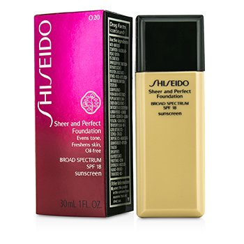 Shiseido Sheer & Perfect Base SPF 18 - # O20 Natural Light Ochre  30ml/1oz
