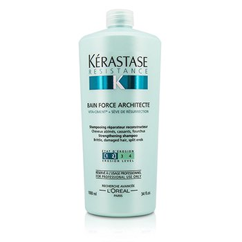 Resistance Bain Force Architecte Strengthening Shampoo (For Brittle, Damaged Hair, Split Ends) 1000ml/34oz