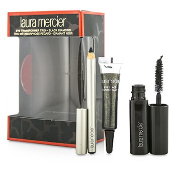 Laura Mercier Trio Transformador de Ojos (1x Mini Brillo Ojos 4g + 1x Mini Lápiz Kohlpara Ojos 0.85g + 1x Mini Máscara 5.7g) - Black Diamond  3pcs