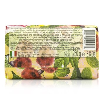 Bio Natura Sustainable Vegetal Soap - Wild Raspberry & Nettle  250g/8.8oz