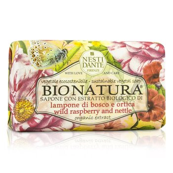 Nesti Dante Bio Natura Sustainable Vegetal Soap - Wild Raspberry & Nettle - סבון צמחי פטל בר וסרפד  250g/8.8oz