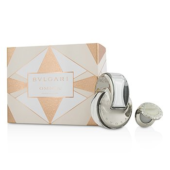Bvlgari Omnia Crystalline Coffret: Eau De Toilette Spray 65ml/2.2oz + Perfume  S�lido 1g/0.03oz  2pcs
