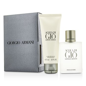 Giorgio Armani Acqua Di Gio Coffret: Eau De Toilette Spray 50ml/1.7oz + Bálsamo para Después de Afeitar 75ml/2.5oz  2pcs