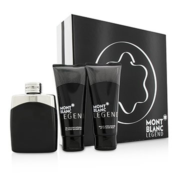 Mont Blanc Legend Coffret: Eau De Toilette Spray 100ml/3.3oz + Bálsamo para Después de Afeitar 100ml/3.3oz + Gel de Ducha Total 100ml/3.3oz  3pcs