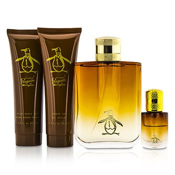 Original Penguin Coffret: Eau De Toilette Spray 100ml/3.4oz + Eau De Toilette Spray 7.5ml/0.25oz + After Shave Balm 90ml/3.0oz + Shower Gel 90ml/3.0oz  4pcs
