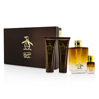 Original Penguin Original Penguin Coffret: Eau De Toilette Spray 100ml/3.4oz + Eau De Toilette Spray 7.5ml/0.25oz + After Shave Balm 90ml/3.0oz + Shower Gel 90ml/3.0oz  4pcs
