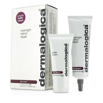 Dermalogica Age Smart Set: Overnight Retinol Repair 30ml + Buffer Crema 15ml  2pcs