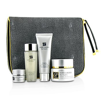 Estee Lauder Intensive Age-Renewal Collection: Re-Nutriv Creme 50ml + Cleanser 50ml + Lotion 50ml + Eye Creme 7ml + Travel Case  4pcs+1case