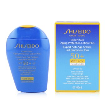 Shiseido Expert Sun Aging Protection Lotion Plus WetForce For Face & Body SPF 50+  100ml/3.4oz