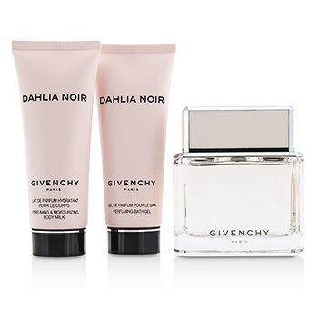 Dahlia Noir Coffret: Eau De Toilette Spray 75ml/2.5oz + Body Milk 75ml/2.5oz + Bath Gel 75ml/2.5oz  3pcs