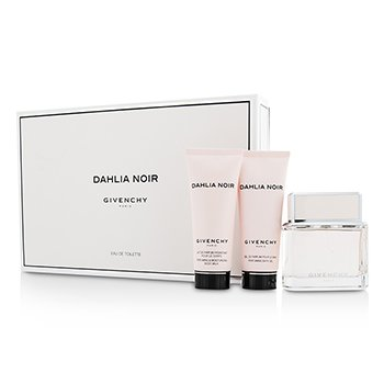 Givenchy Dahlia Noir Coffret: Eau De Toilette Spray 75ml/2.5oz + Body Milk 75ml/2.5oz + Bath Gel 75ml/2.5oz  3pcs