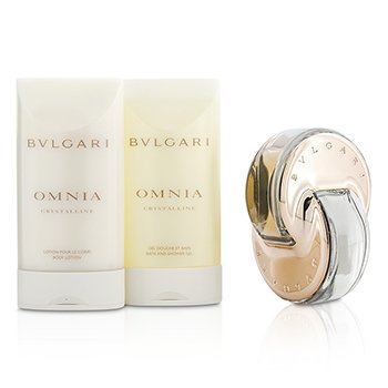 Omnia Crystalline Coffret: L'Eau De Parfum Spray 40ml/1.35oz + Bath & Shower Gel 75ml/2.5oz + Body Lotion 75ml/2.5oz  3pcs