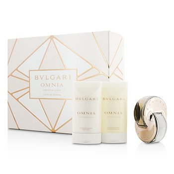 Bvlgari Omnia Crystalline Coffret: L'Eau De Parfum Spray 40ml/1.35oz + Gel de Ducha & Baño 75ml/2.5oz + Loción Corporal 75ml/2.5oz  3pcs