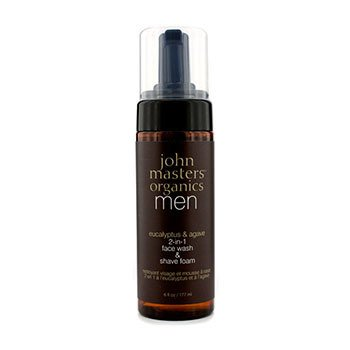 John Masters Organics Men 2-In-1 Face Jabón Afeitado  177ml/6oz