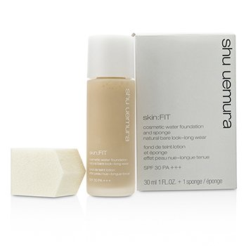 Shu Uemura Skin:Fit Cosmetic Water Foundation and Sponge SPF30 - #574 Light Sand  30ml/1oz