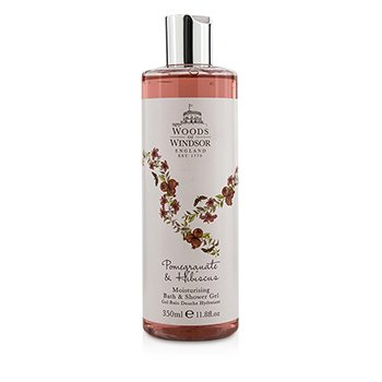 Woods Of Windsor Pomegranate & Hibiscus Gel Humecante de Ducha & Baño  350ml/11.8oz