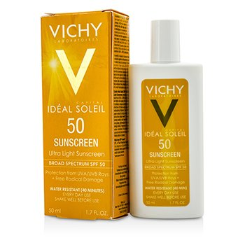 Vichy Capital Soleil Ultra Light Sunscreen For Face & Body SPF 50 - מסנן קרינה אולטרה קליל לפנים ולגוף  50ml/1.7oz