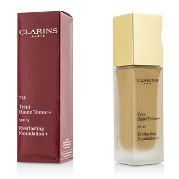 Clarins Everlasting Foundation+ SPF15 - # 114 Cappuccino  30ml/1.1oz