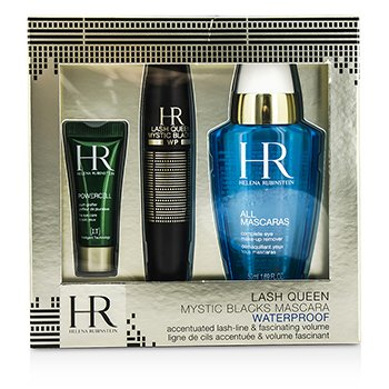Helena Rubinstein Lash Queen Mystic Blacks Set M�scara A Prueba de Agua: M�scara  7ml/0.24oz + Demaquillante 50ml/1.69oz + Powercell 3ml/0.15oz  3pcs