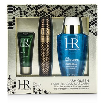 Helena Rubinstein Lash Queen Fatal Blacks Set M�scara: M�scara 7.2ml/0.24oz + Demaquillante 50ml/1.69oz + Powercell 3ml/0.15oz  3pcs