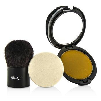 HDPV Anti-Shine Sunless Tan Kit: HDPV Anti-Shine Powder - T (Tan) 10g + Deluxe Kabuki Brush 1pc  2pcs