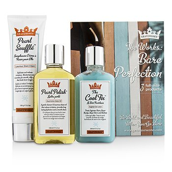 Shaveworks Bare Perfection Kit: Shave Cream 150g + Targeted Gel Lotion 156ml + Body Oil 156ml  3pcs