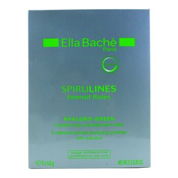 Ella Bache Spirulines Intensif Rides Hyaluro-Green Intensive Wrinkle Plumping Patches (Salon Product)  5x5.8g/0.2oz