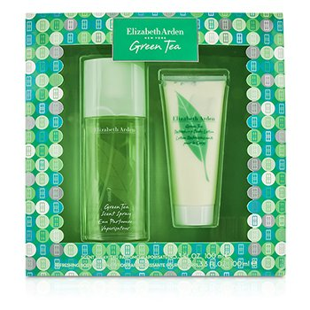 Green Tea Coffret: Eau Parfumee Spray 100ml/3.3oz + Body Lotion 100ml/3.3oz 2pcs