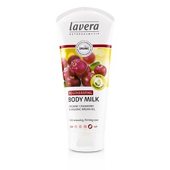 Lavera Organic Cranberry & Argan Oil Regenerating Body Milk  200ml/6.6oz