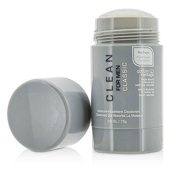 Clean For Men Classic Moisture-Absorbent Deodorant Stick 75g/2.6oz