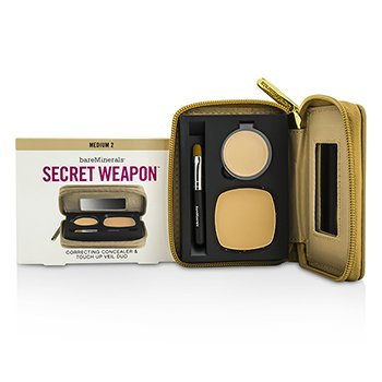 BareMinerals Secret Weapon Correcting Concealer & Touch Up Veil Duo - # Medium 2 + Medium  4.7g/0.22oz