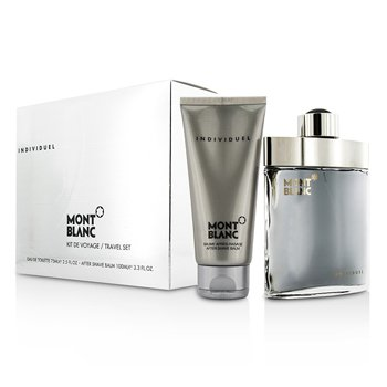 Mont Blanc Individuel Coffret: Eau De Toilette Spray 75ml/2.5oz + After Shave Balm 100ml/3.3oz  2pcs