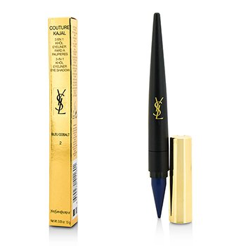 Yves Saint Laurent Couture Kajal Lápiz Ojos  3 en 1 Eye Pencil (Khol/Delineador/Color Ojos) - #2 Bleu Cobalt  1.5g/0.05oz
