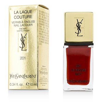 Yves Saint Laurent La Laque Couture Nail Lacquer The Mats - # 201 Le Rouge Mat  10ml/0.34oz