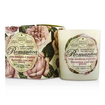 Scented Italian Candle - Romantica Florentine Rose & Peony  160g/5.64oz