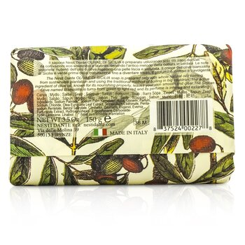 Natural Soap With Italian Olive Leaf Extract  - Olivae Di Sicilia  150g/3.5oz