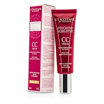 L'Occitane Peony Pivoine Sublime CC Cream SPF 20 - #Light  30ml/1oz