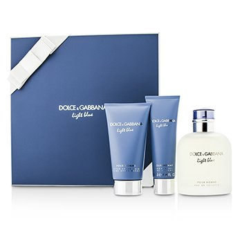Homme Light Blue Coffret: EDT Spray 125ml/4.2oz + After Shave Balm 75ml/2.5oz + Shower Gel 50ml/1.6o  3pcs