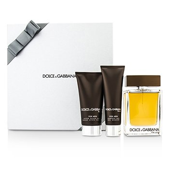 Dolce & Gabbana The One Coffret: Eau De Toilette Spray 100ml/3.3oz + Bálsamo para Después de Afeitar 75ml/2.5oz + Gel de Ducha 50ml/1.6oz (Silver Box)  3pcs