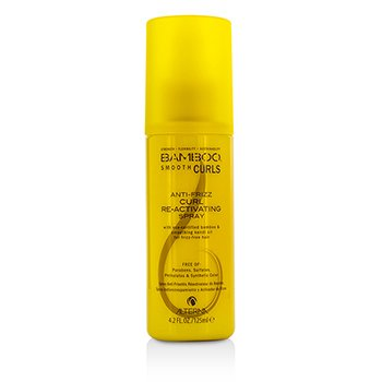 Alterna Bamboo Smooth Curls Anti-Frizz Curl Re-Activating Spray (For Frizz-Free Hair)  125ml/4.2oz