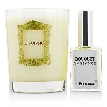 Scented Candle - Bouquet (with Room Frangrance Spray 15ml/0.5oz)  200g/7oz