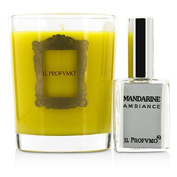 Scented Candle - Mandarine (with Room Frangrance Spray 15ml/0.5oz)  200g/7oz