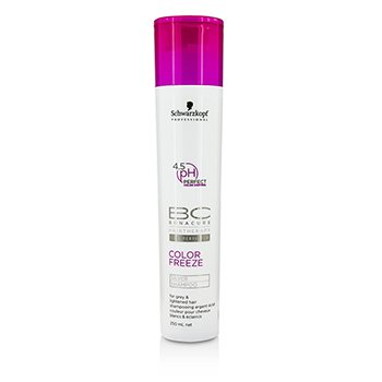 Schwarzkopf BC Color Freeze pH 4.5 Silver Champú (Para Cabello Ilumiando, Gris)  250ml/8.4oz